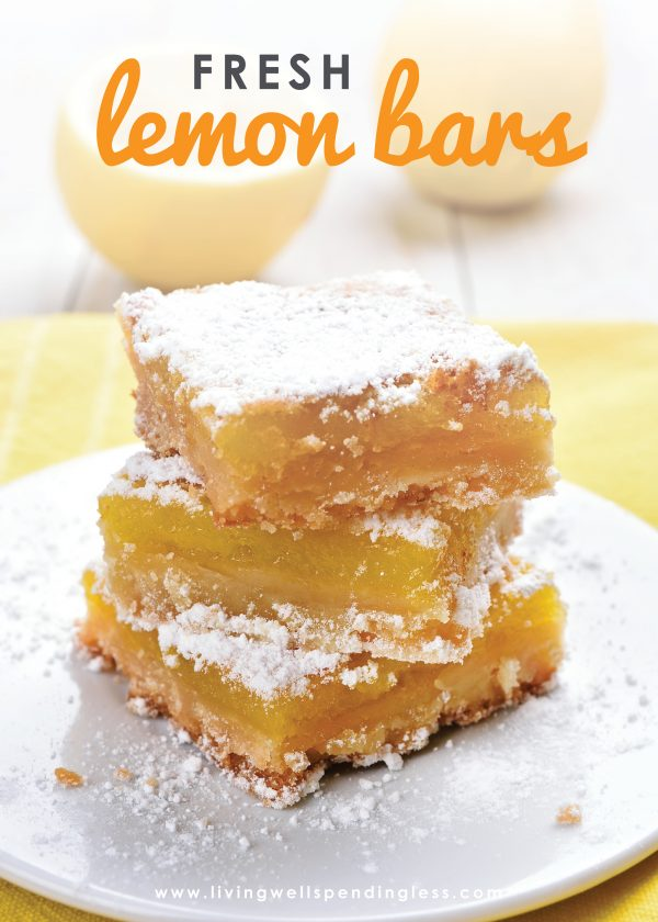 Craving something decadent? These fresh lemon bars are easy to make and the perfect balance of citrus and sweet, everyone will love them!