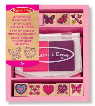 Heart and Butterfly Stamp Kit for Kids | 15 Awesome Valentine Gift Ideas Under $15