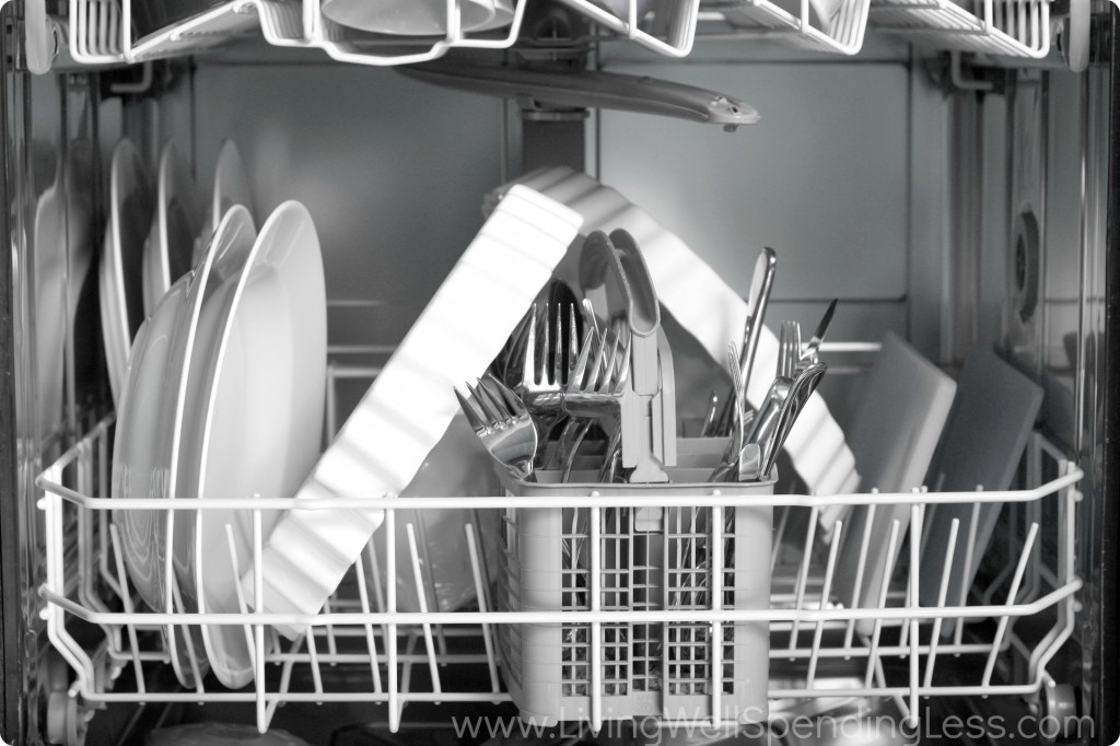 When you fill your dishwasher properly there's no need to pre-rinse.