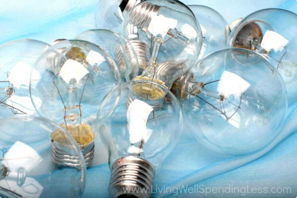 One way to save on your utility bills is to use efficient bulbs and turn out the lights. These old-fashioned light bulbs use more energy.