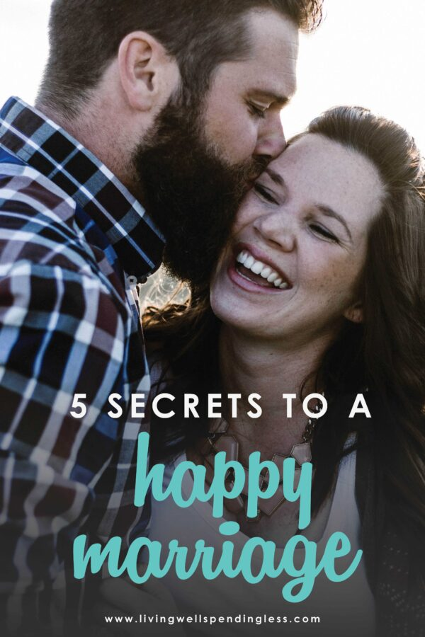 Fact: Real marriage can be hard. And if you've ever questioned whether all the messiness is worth it, you will not want to miss these 5 secrets of a happy marriage. It's a heartwarming must-read whether you've been married for 15 minutes or 15 years! #marriageadvice #marriage #relationships #marriagetips #relationshipadvice #relationshiptips #relationshiphelp #relationship #keepingamarriagealive #healthyhappymarriage