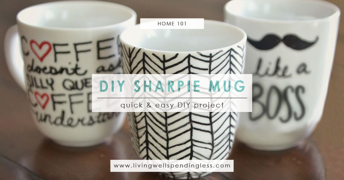 how to make cute diy sharpie mugs living well spending less