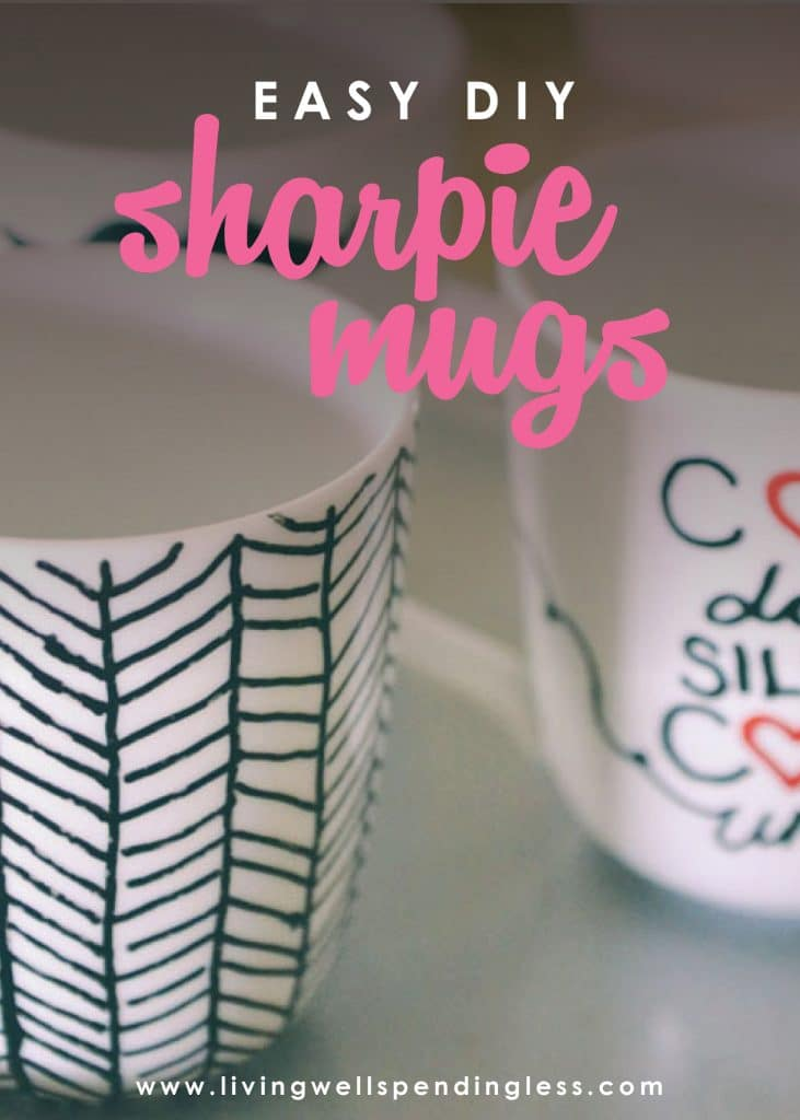 Sharpie mugs are all over Pinterest, but do they really work? This awesome step-by-step tutorial not only shows you how to make them, but proves exactly which markers won't wash off! Such a fun & easy project and an awesome DIY gift idea!