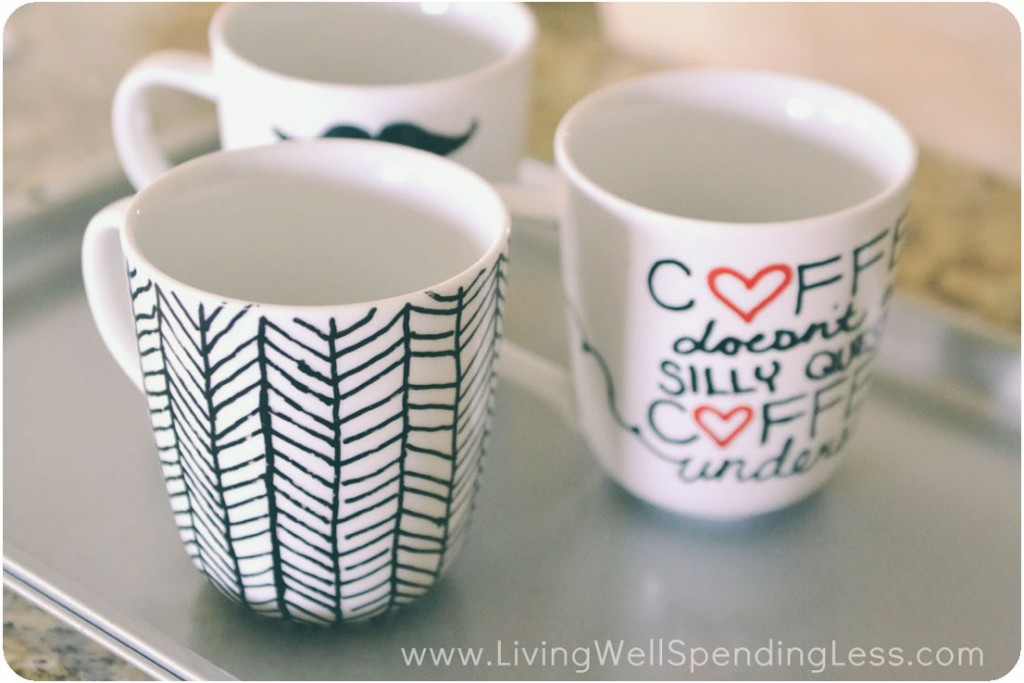 DIY Sharpie Mugs | Sharpie Mug Project | Sharpie Marker Mugs | DIY Painted Mugs