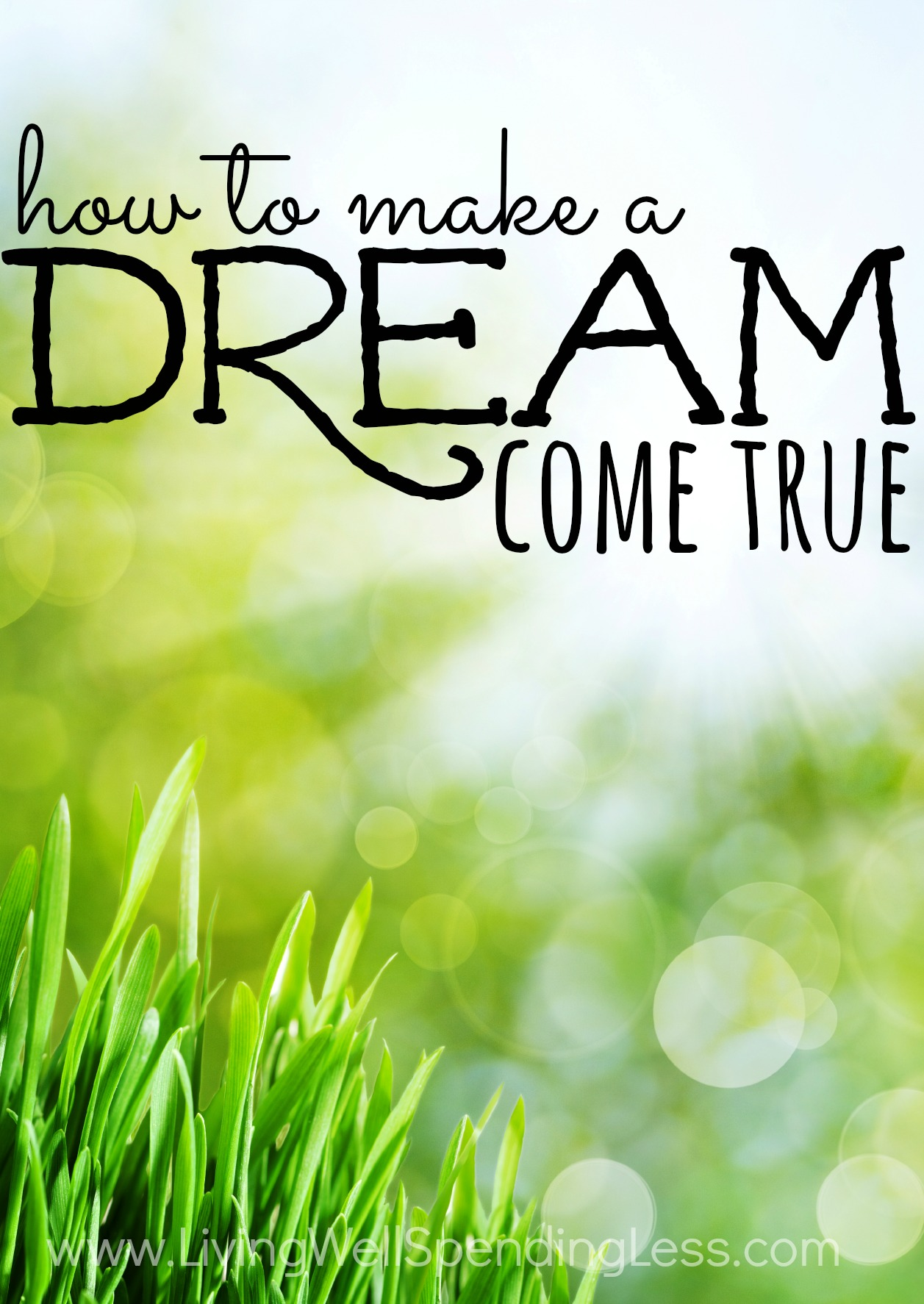 The bigger your dream, the less likely it is that other people will understand it, and the more likely that they will criticize or mock you or tell you it is impossible. If you want to make a dream come true, you have to believe in yourself.