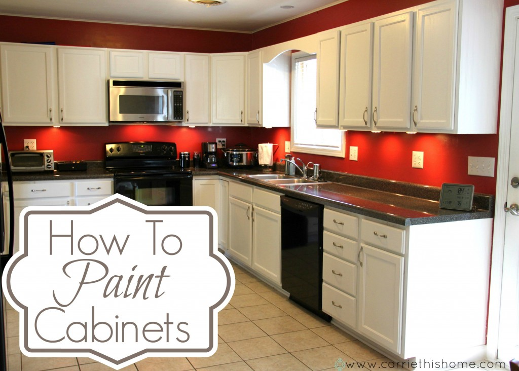 How to paint cabinets 1024x732 living well spending less for Kitchen cabinets for less