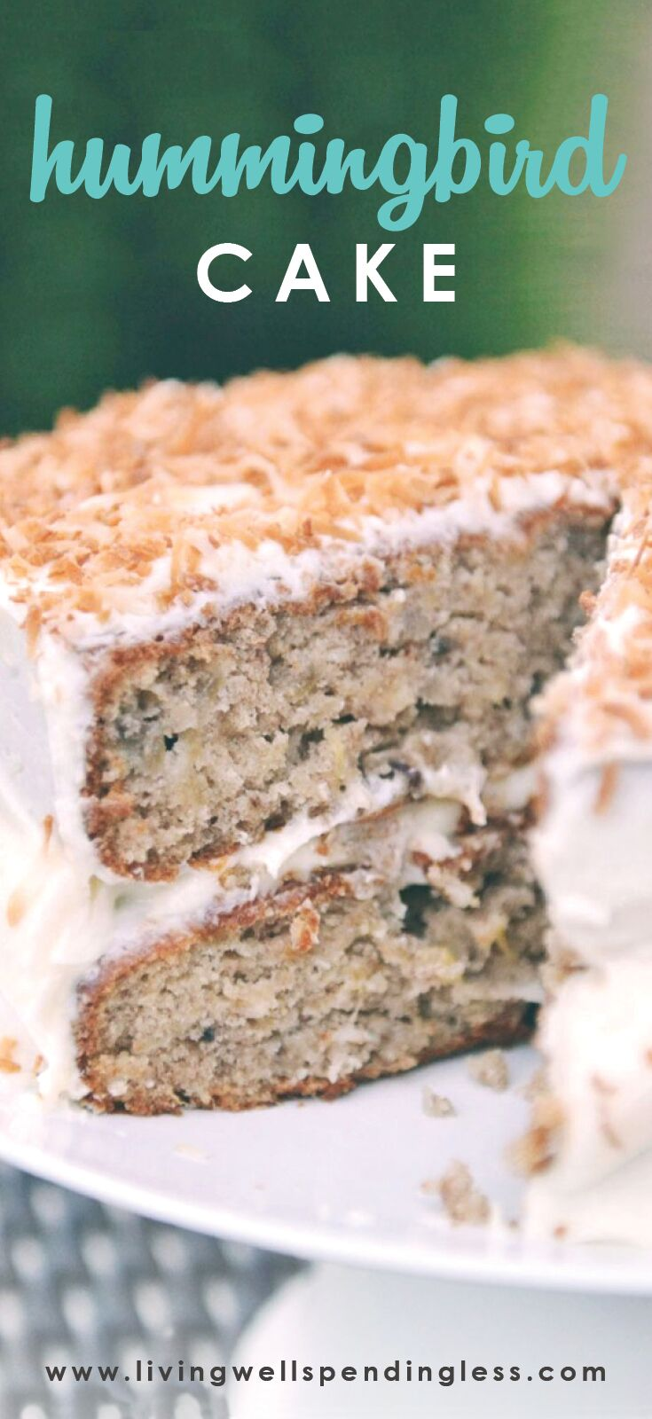 Hummingbird Cake | Hummingbird Cake Recipe | Cake Recipes | Easy Cake Recipes | Southern Cake Recipes | Banana Cake Recipes | Butter Cream Cheese Frosting | Desserts | Yummy Cakes | Easy Hummingbird Cake