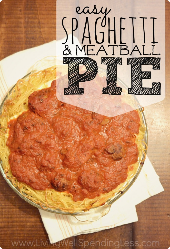 Spaghetti & Meatball Pie