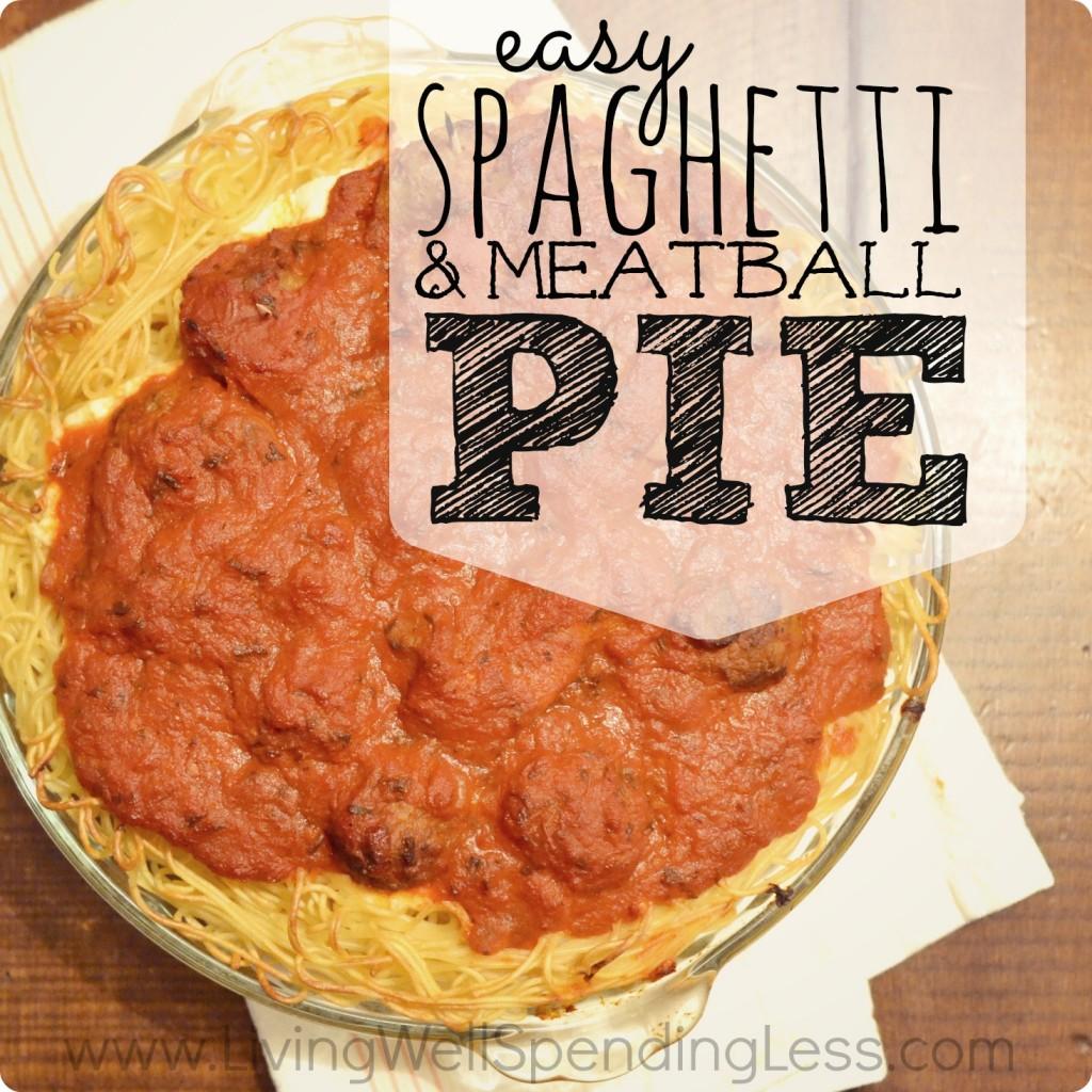 Spaghetti & Meatball Pie Square