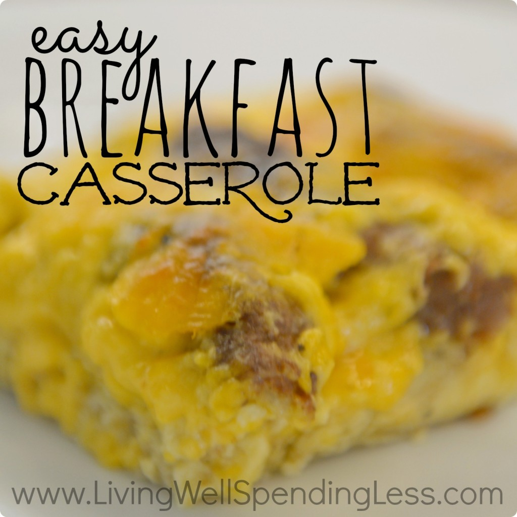 easy breakfast casserole square