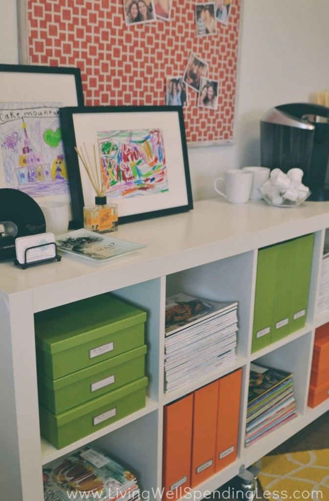Functional storage is a necessity when you're organizing your home office