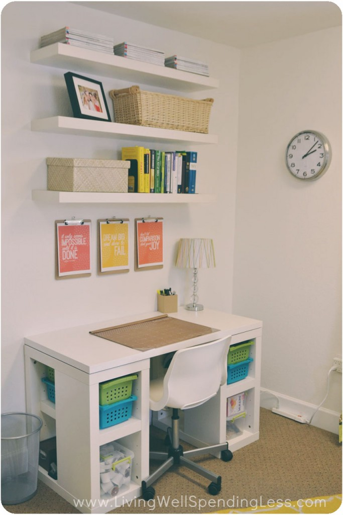 Diy office on a budget living well spending less - Small room space ideas image ...