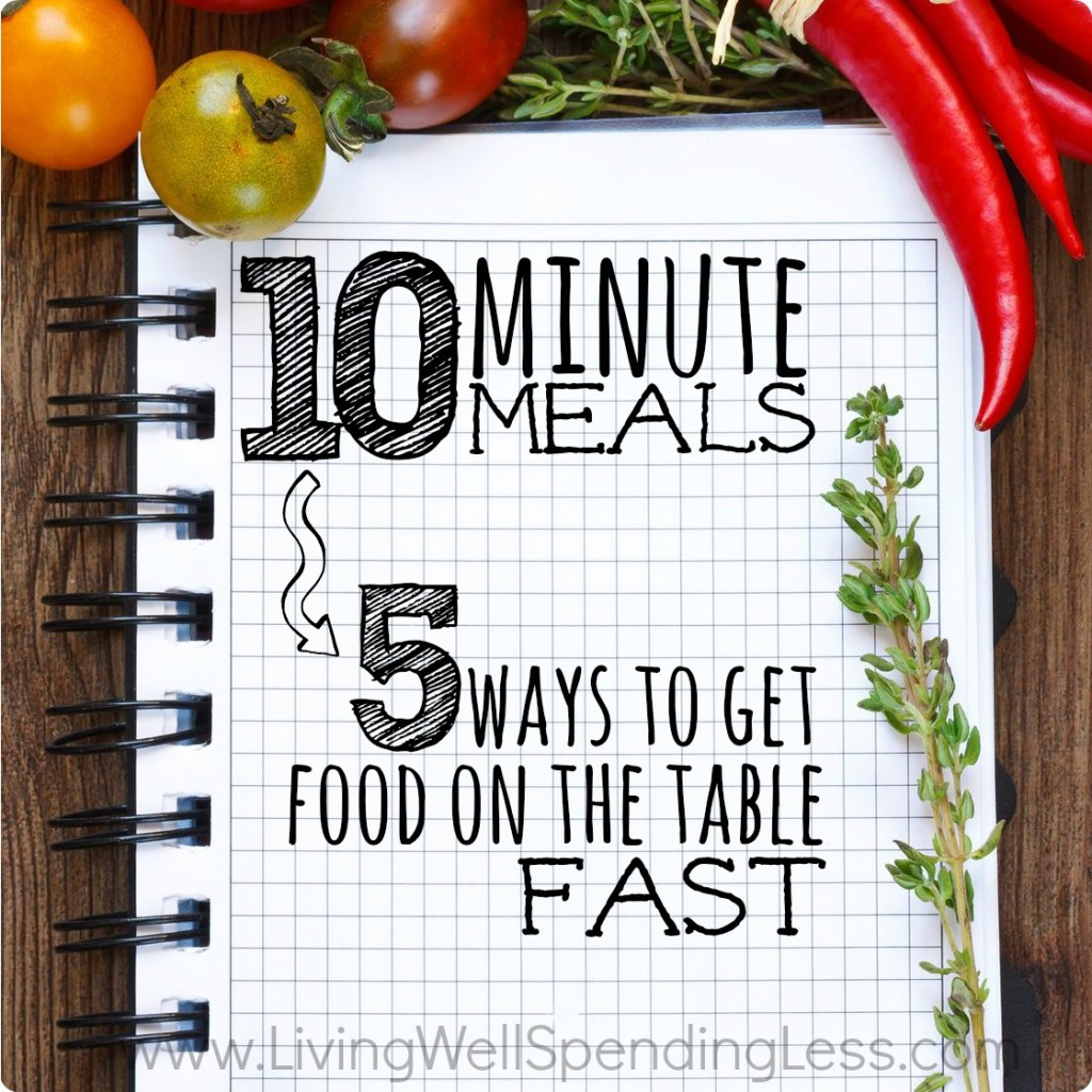10 Minute Meals Notebook Square