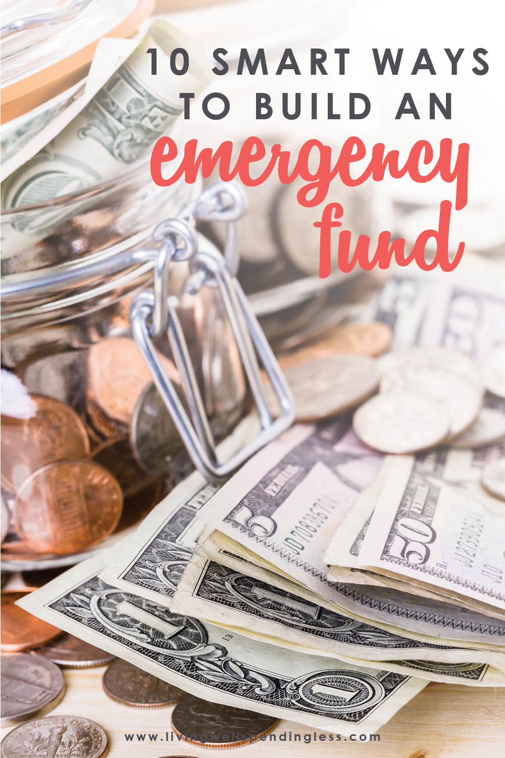 Want to save money or pay off debt, but aren't sure where to start? Don't miss these 10 super smart and easy ways to build up your emergency fund fast! #emergencyfund #savemoney #savingsfund #money