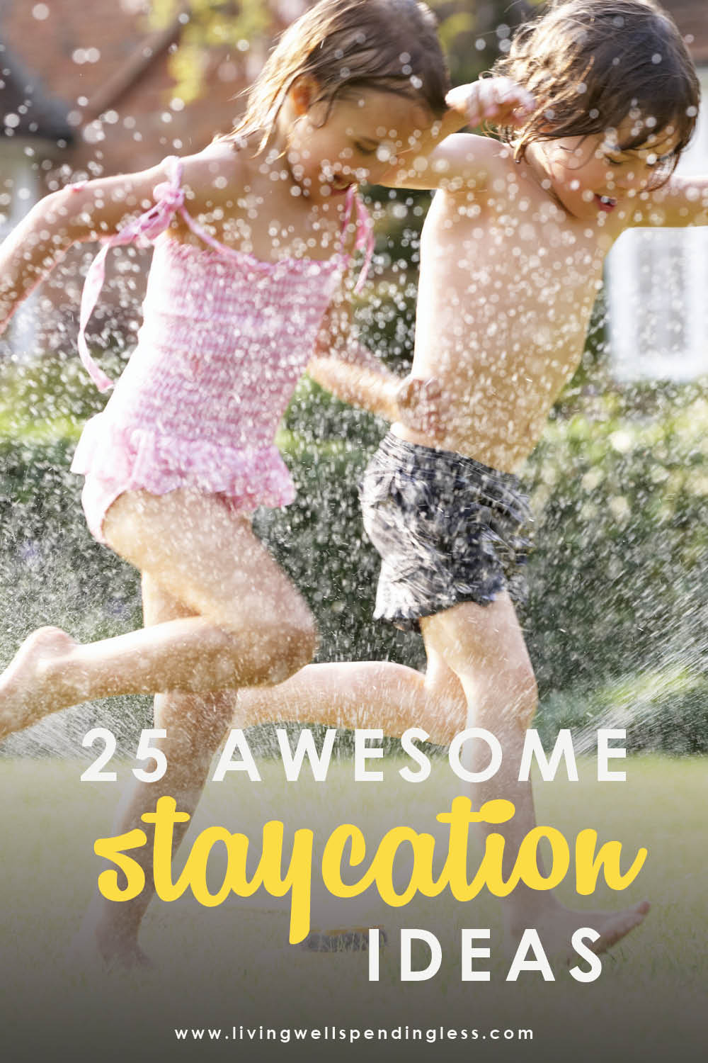 Think a family getaway means going far away? These 25 awesome ideas for vacationing right in your own hometown might just change your mind! Awesome Staycation Ideas | Staycation Tips | Staycation Planning | Family Getaways | Family Activities | Family Vacations #staycationtips #staycation #familyactivities #familyvacations