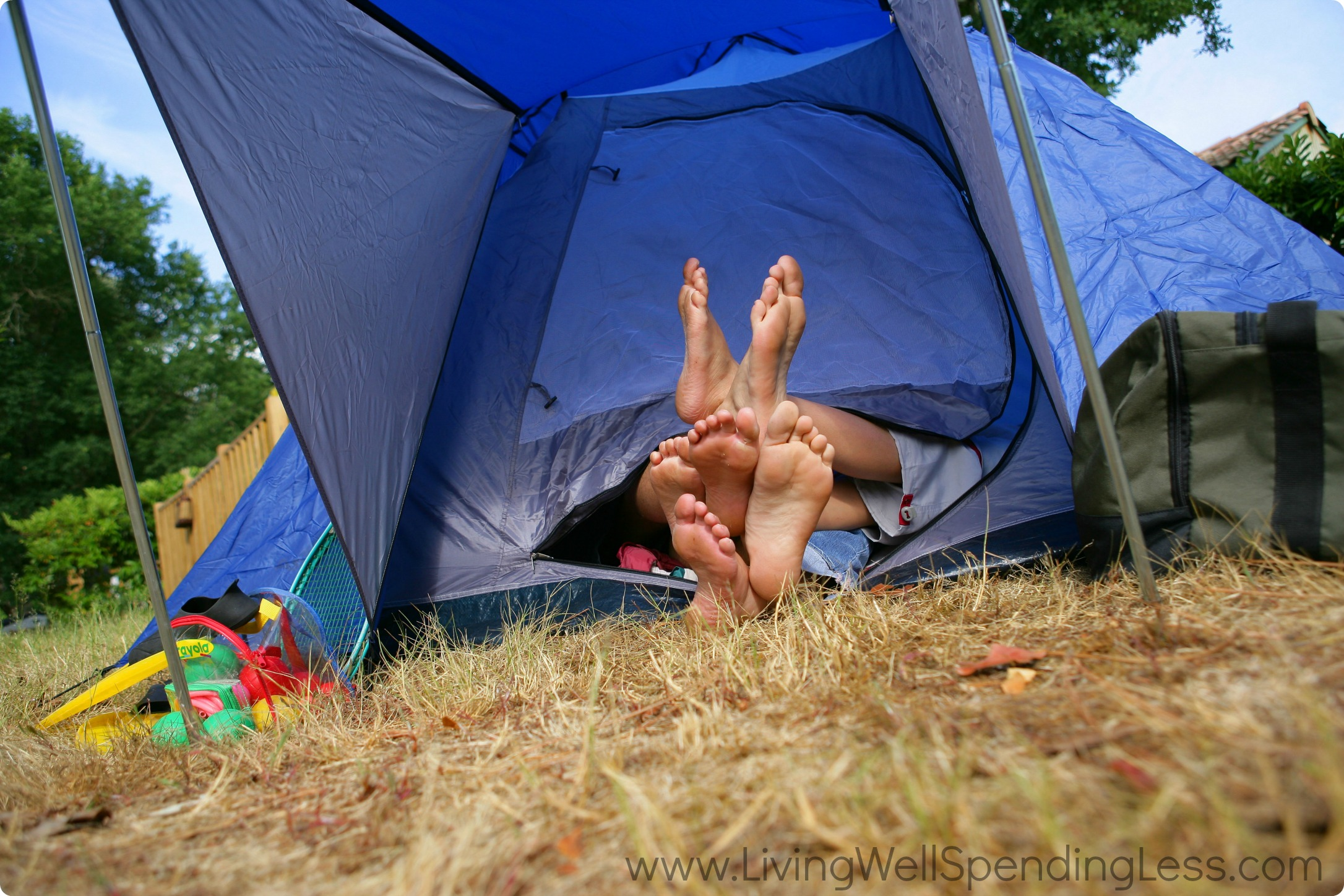 backyard camping living well spending less