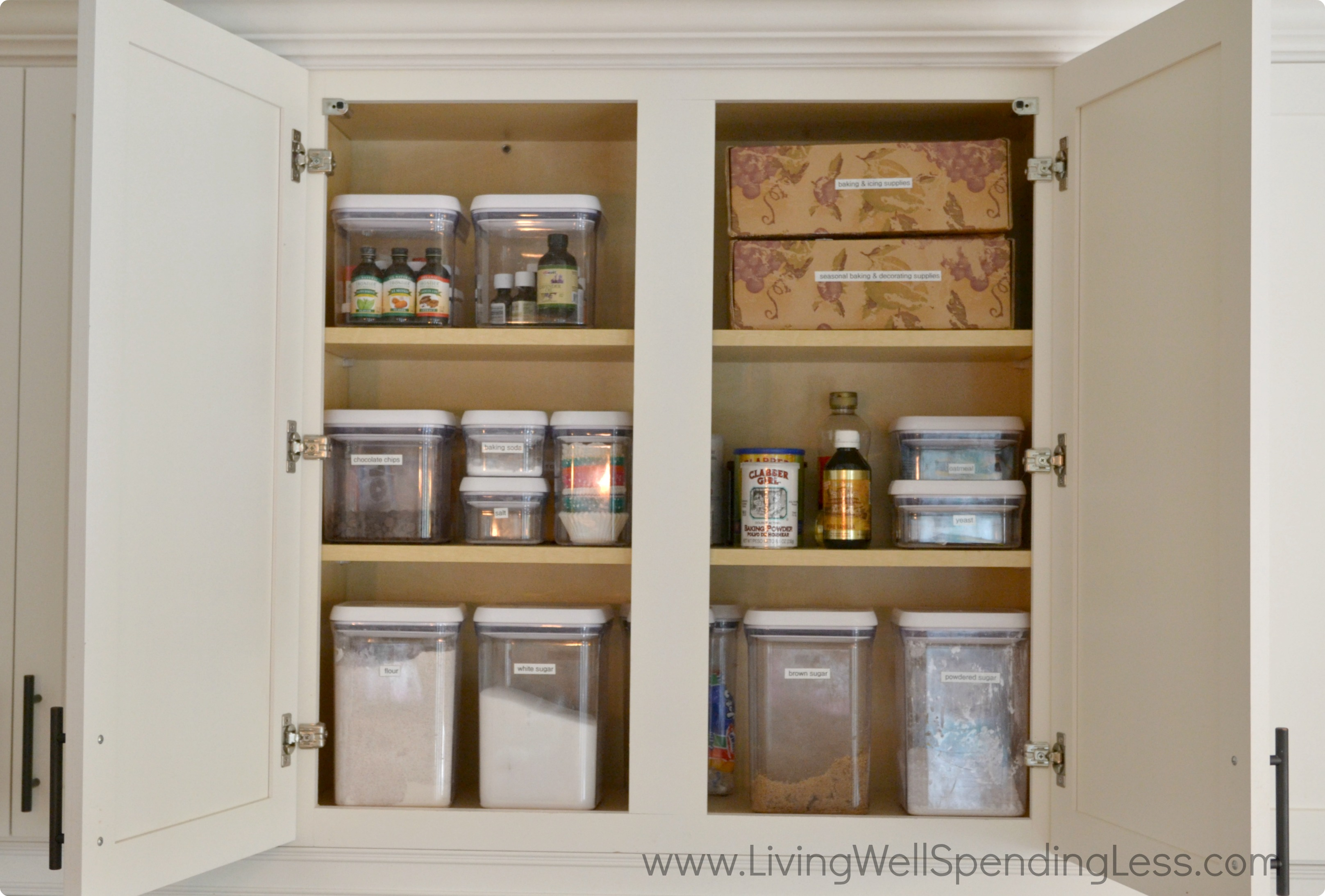 Clean Kitchen Cabinet - Living Well Spending Less®