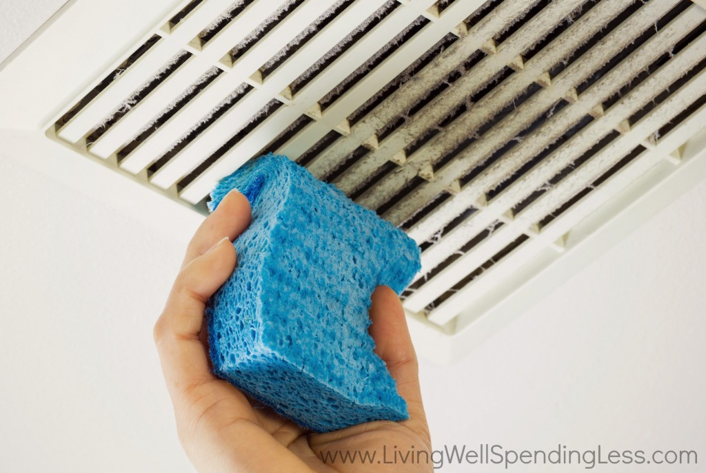 Sponges are great for cleaning dusty vents.