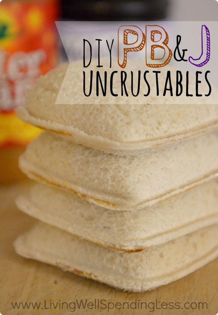 DIY Peanut Butter & Jelly Uncrustables