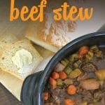 Looking for a hearty and delicious recipe that's easy to make? This beef stew is delicious and a perfect one pot meal the whole family will love.