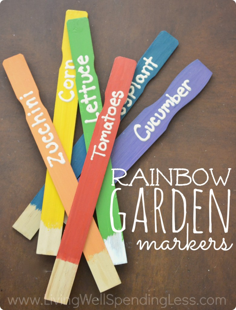 Rainbow Garden Markers 2
