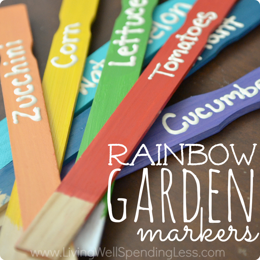 Rainbow Garden Markers Square