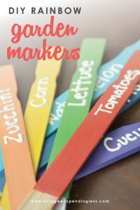 Looking for a cute and fun way to decorate your garden? These DIY Rainbow Garden Markers are adorable and a snap to make!