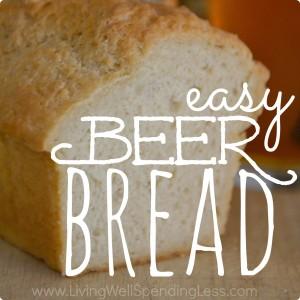 Easy Beer Bread | Homemade Easy Beer Bread |DIY Easy Beer Bread | Side Dish Ideas | 5 Ingredients Bread | Snacks and Startes Recipes | Bread Recipes | Beer Bread