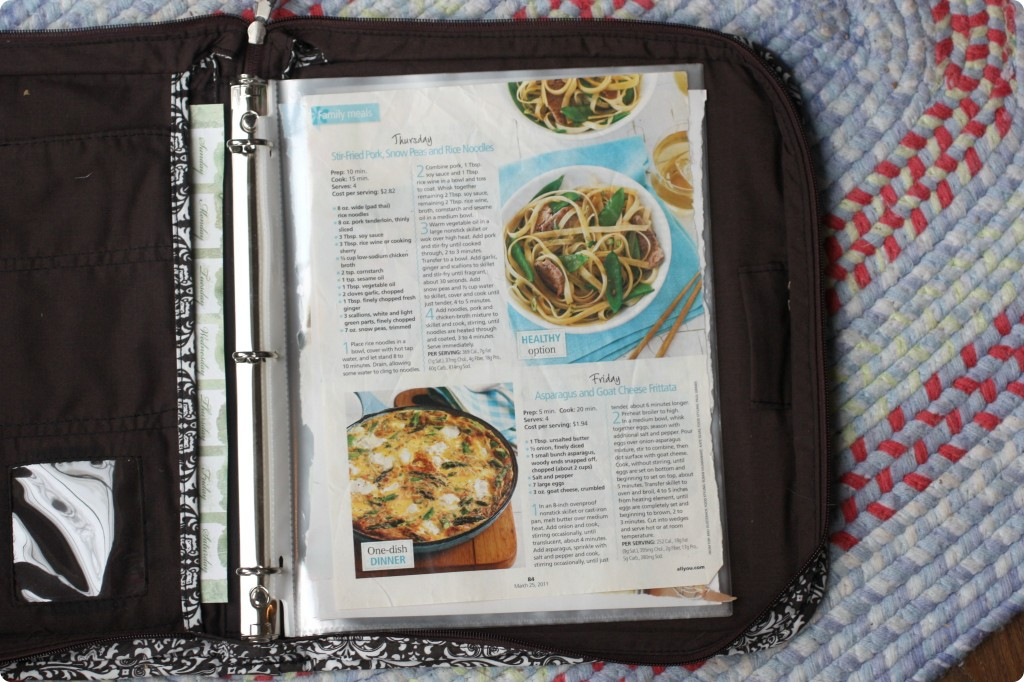 meal notebook