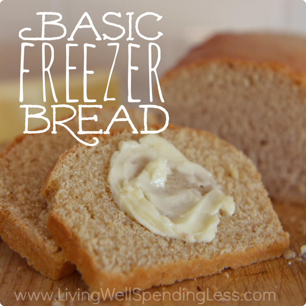 Basic Freezer Bread | Frozen Bread Recipes | Freezer Meals | Easy Freezer Foods | Frozen Bkaed Goods | Basic Bread | Bread Recipes | Homemade Frozen Bread Dough