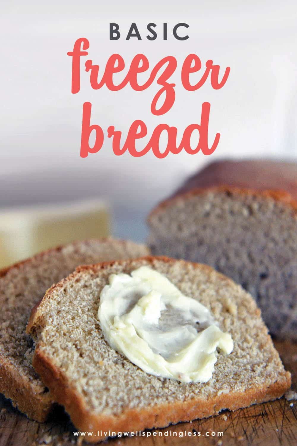 What's better than freshly baked bread? Fresh-baked bread that's easy to make and delicious! This simple but delicious basic freezer bread recipe makes enough dough for four loaves—just mix it, knead it, let it rise and freeze it until you need it. #freezerbread #homemadebread #freezerrecipes #stockpilerecipes #prepping #preppers #prepperrecipes #homesteading