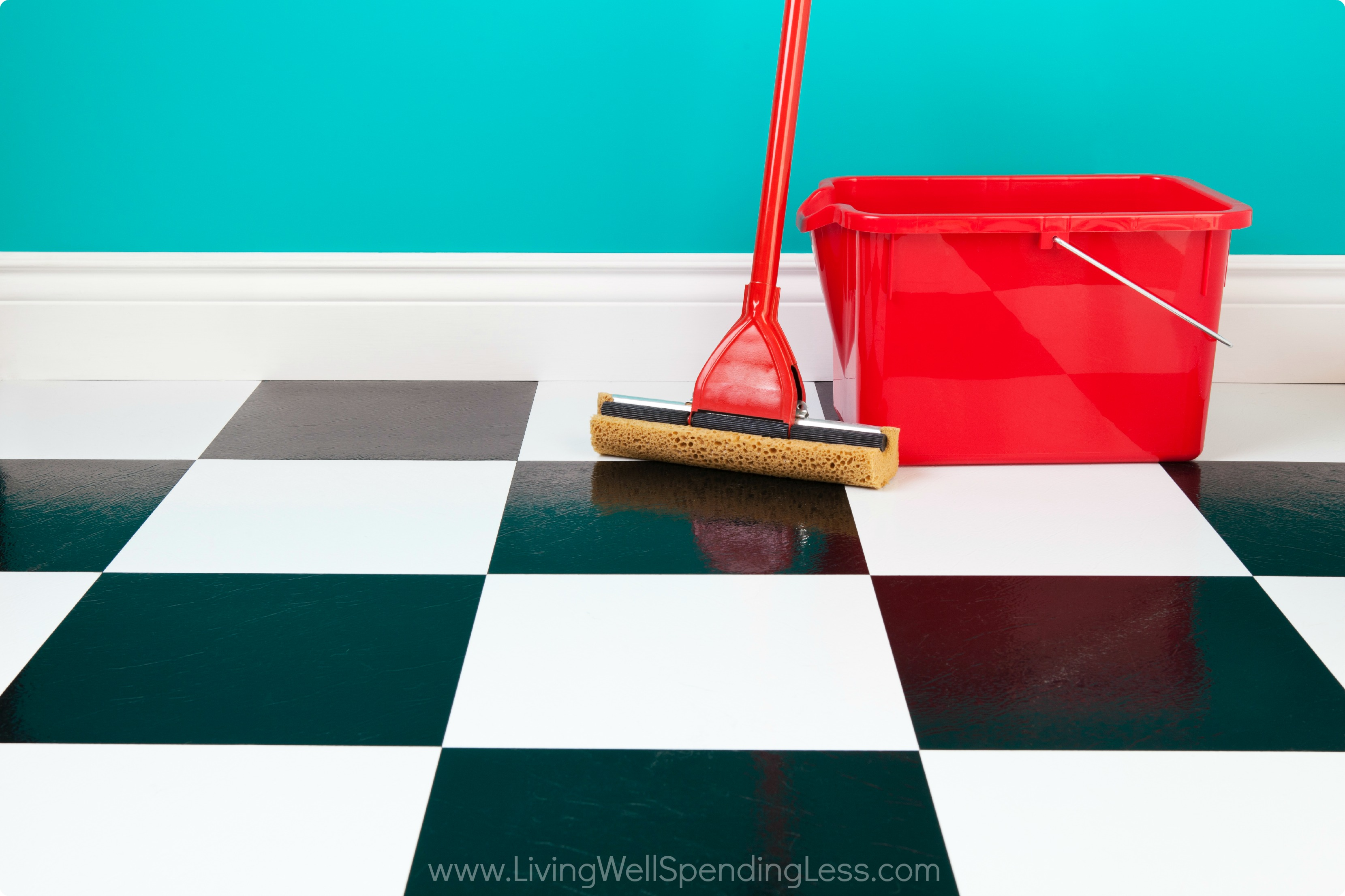 Cleaning Floor - Living Well Spending Less®