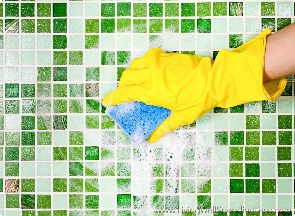 Scrubbing mildew and mold off tiles is important.