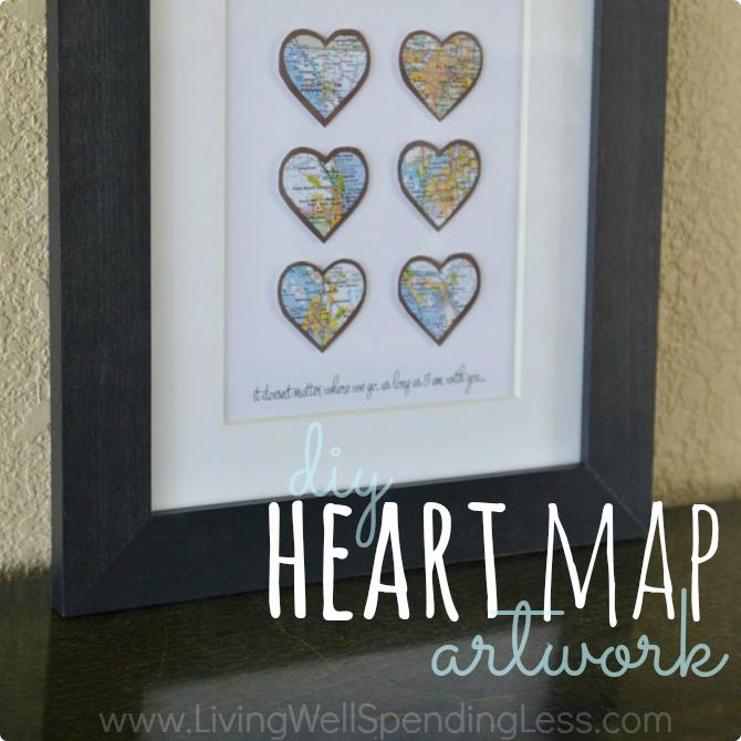 DIY Heart Map Art | DIY Crafts | Map Art Ideas | Heart Map