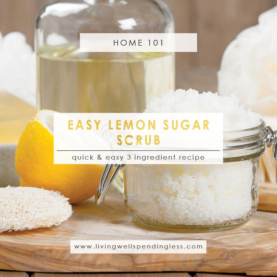 DIY Lemon Sugar Scrub | Lemon Scrub | Sugar Scrub Recipe | Homemade Lemon Sugar Scrub