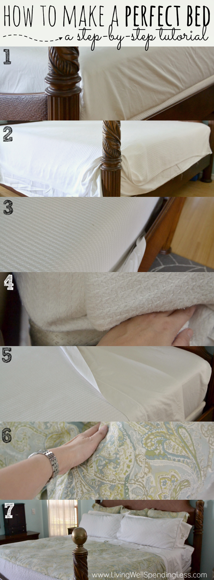 This step by step tutorial will teach you how to make the perfect bed.