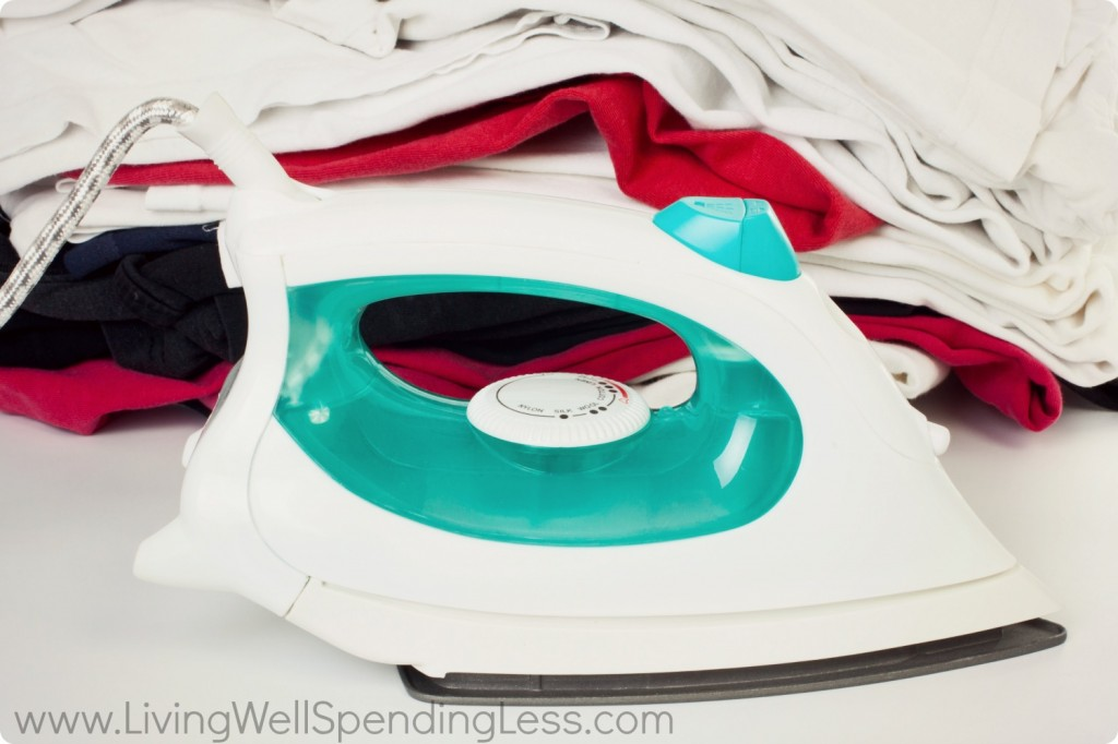 Follow garmet ironing directions to get rid of wrinkles and make your clothes wear-ready.