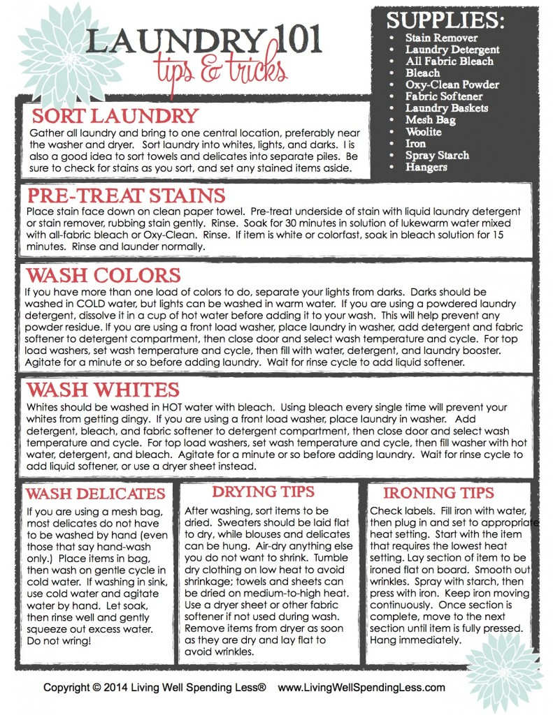 Beginners Guide To Cleaning Part 7 Laundry 101 Living