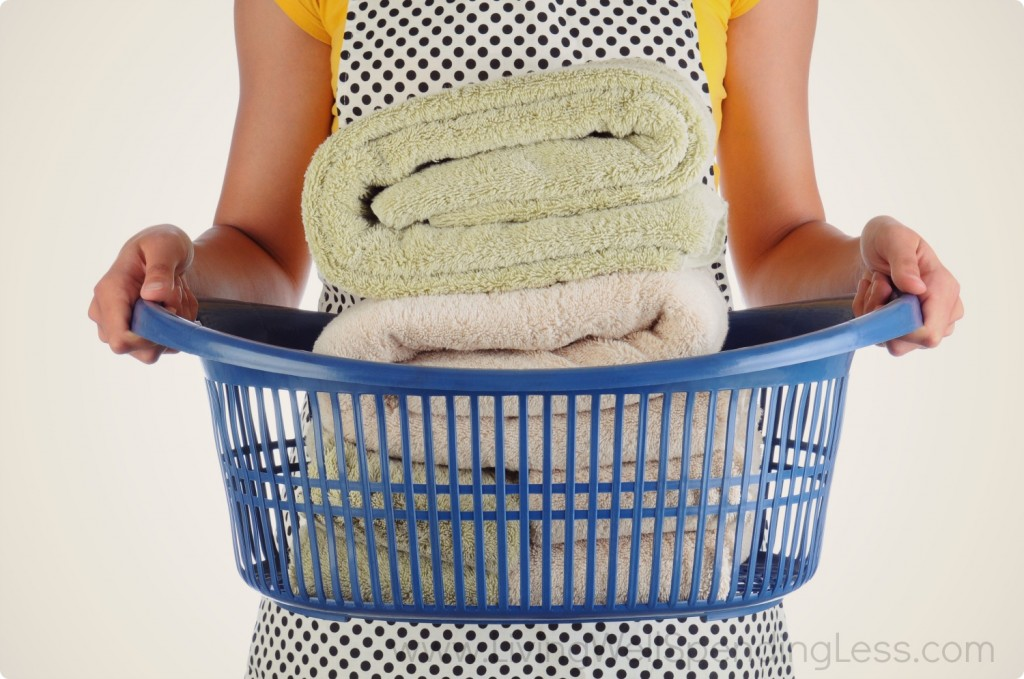 After folding your laundry, putting it away is the hardest part! Don't skip this step - you'll feel great once you get all of your laundry put away.