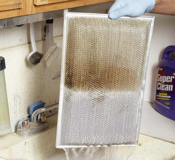 Your range hood filter could be dirtier than you know so clean it regularly to keep dirt at bay