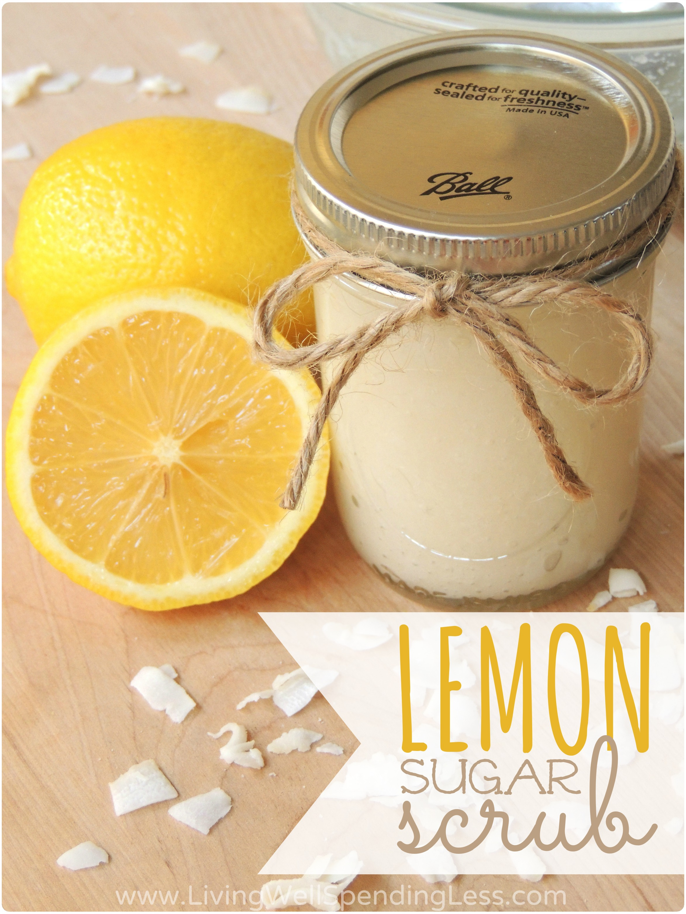 DIY Lemon Sugar ScrubLiving Well Spending Less®