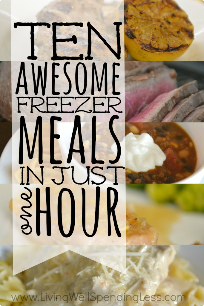 10 Awesome Freezer Meals in an Hour Vertical