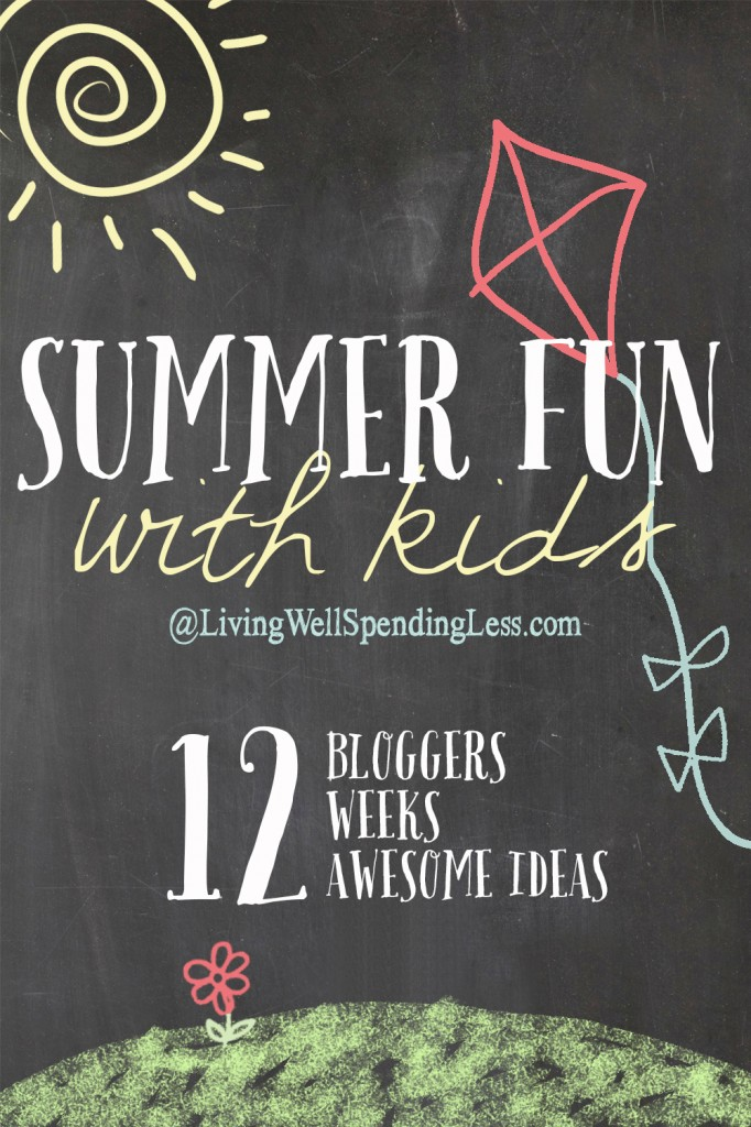 Feeling overwhelmed by the idea of keeping your kids entertained for the next 3 months? This awesome series at LivingWellSpendingLess.com features 12 super fun, practical, and EASY summer projects, plus an awesome giveaway to go along with each one. It is the perfect way to keep your kids busy all summer long!