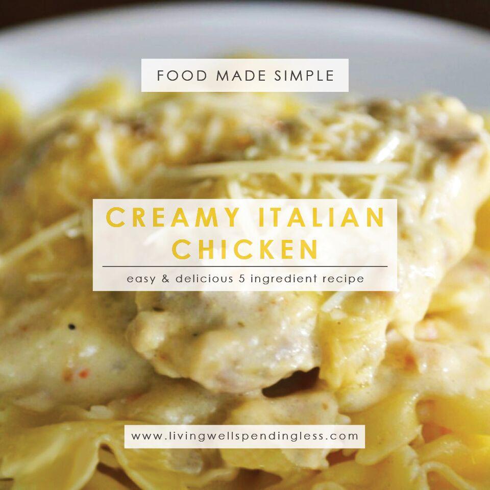 Creamy Italian Chicken Recipe | Chicken Recipe | Creamy Chicken | Chicken Meal | Italian Dressing Recipe | Slow Cooker Chicken Recipe | Slow Cook Creamy Chicken | Cream Cheese Chicken Meal | Baked Chicken Recipe