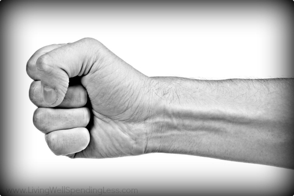 A fist displays confidence and strength.