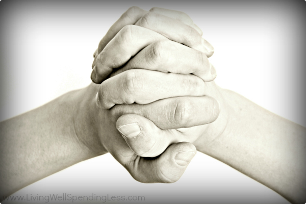 Folding your hands to say a prayer will help improve self doubt.