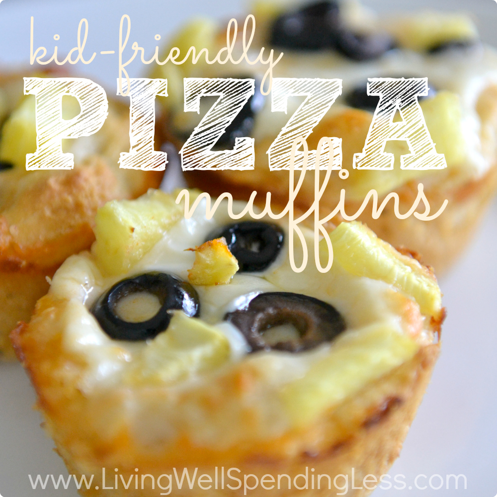 Kid Friendly Pizza Muffins | Muffin Tin Recipes | Kids Dinner Ideas | Pizza Biscuits | Easy Stuffed Pizza Muffins | Easy Pepperoni Pizza Muffins