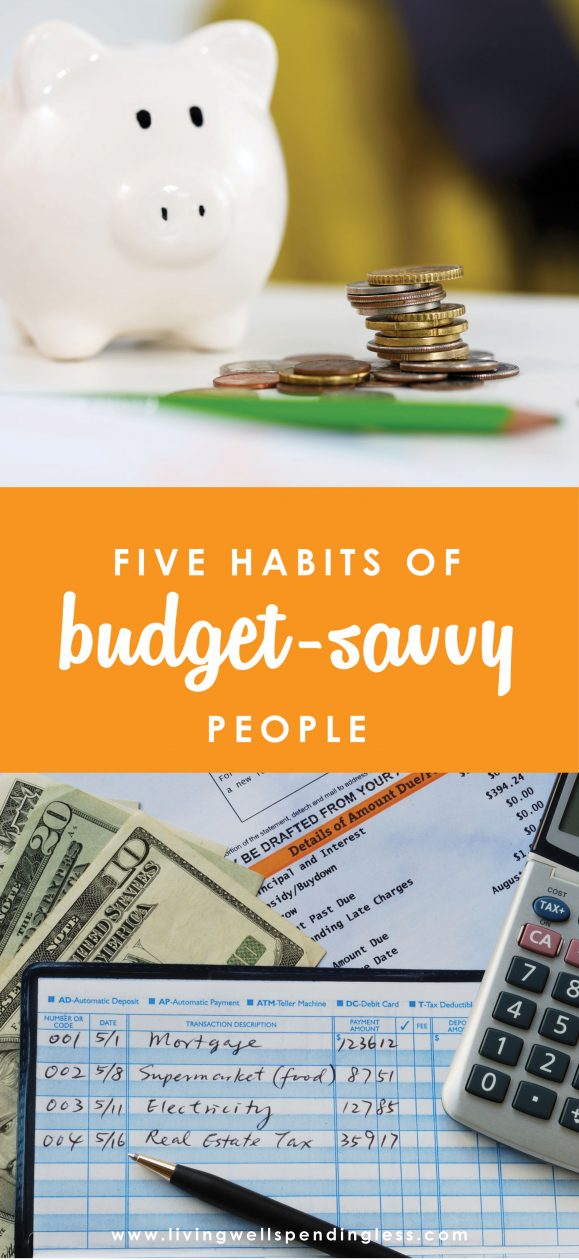 Have you ever wondered why some people are always broke while others seem to thrive, even on the exact same income?  It's most likely because the ones who are thriving have developed these 5 good habits when it comes to money.  If you are struggling to make ends meet, these might just be 5 habits you need to work on!  Budget-Savvy Habits | Good Financial Habits | Budgeting Ideas | Finance Goals | Saving Tips | Hacks on Saving | How to Save | | Money Advice