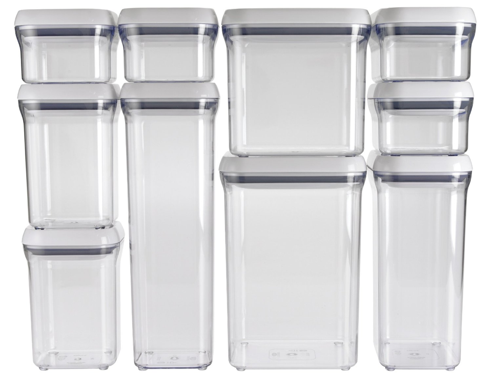 Pop top storage containers