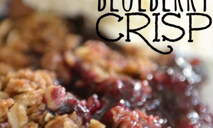Ten Minute Blueberry Crisp